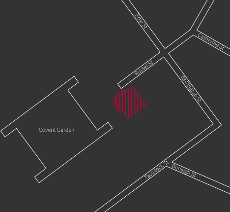 Static map for Tuttons, 11/12 Russell Street, Covent Garden, London, WC2B 5HZ